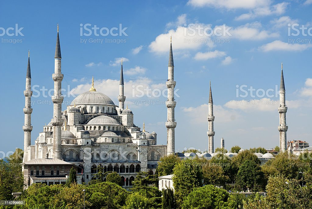 sultan ahmed mosque in istanbul turkey stock photo