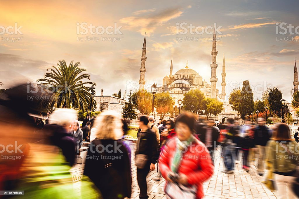 Sultan Ahmet Camii - Blue Mosque in Istanbul stock photo