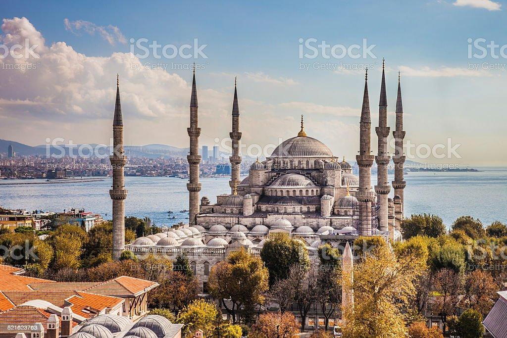 Sultan Ahmet Camii - Blue Mosque in Istanbul stock photo