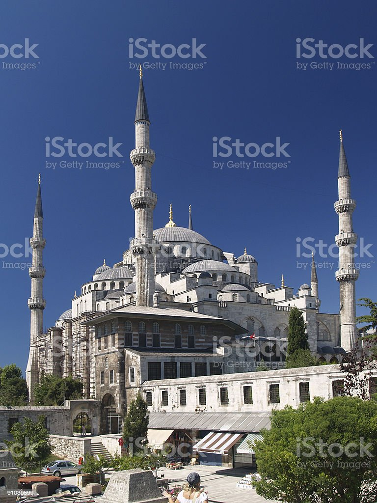 Sultan Ahmet camii. Most famous as Blue mosque. royalty-free stock photo