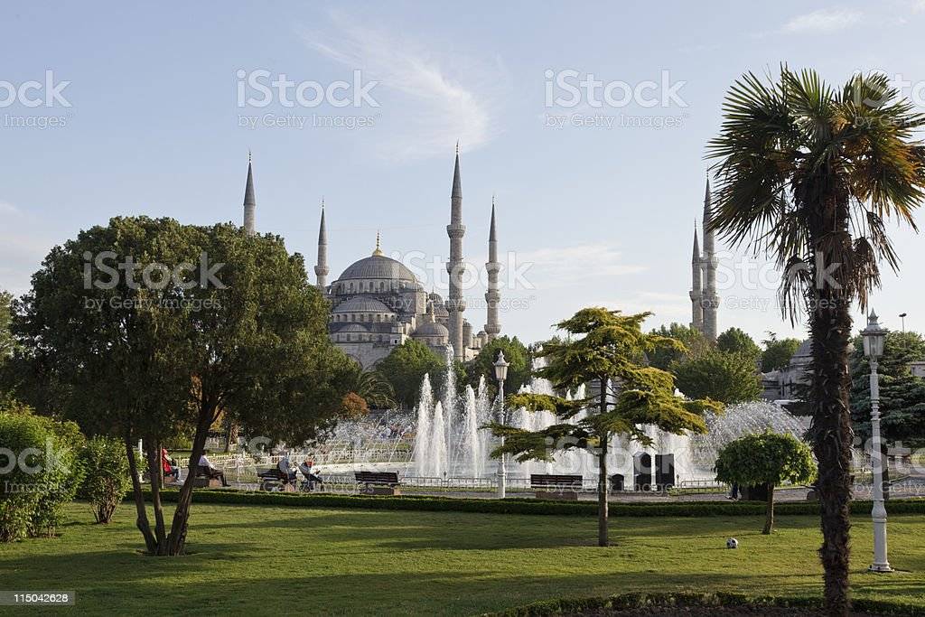 Sultan Ahmet Mosque stock photo