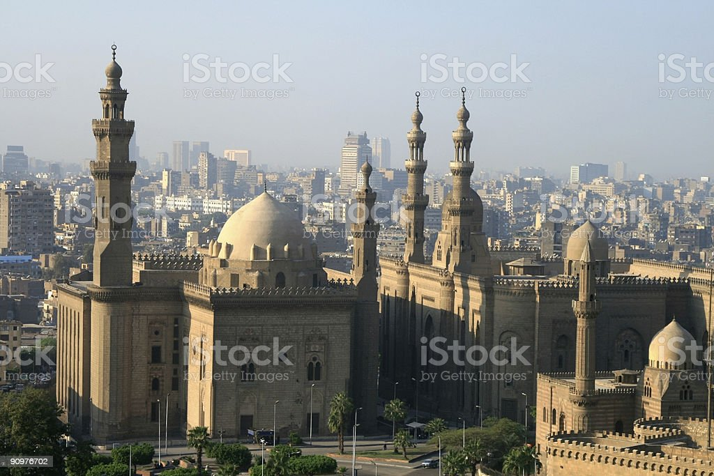 Sultan Hassan Mosque in Cairo, Egypt stock photo