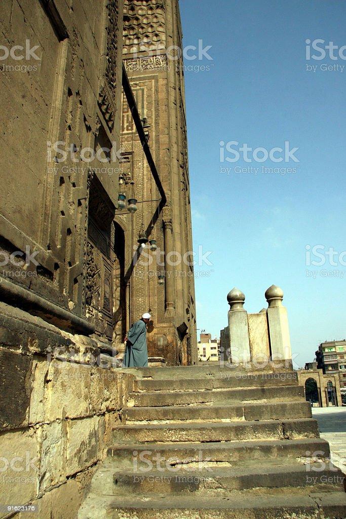Sultan Hassan Mosque stock photo