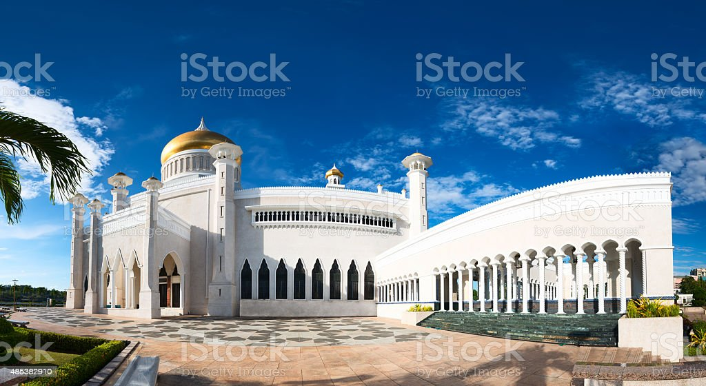 Sultan Omar Ali Saifuddin Mosque in Brunei stock photo
