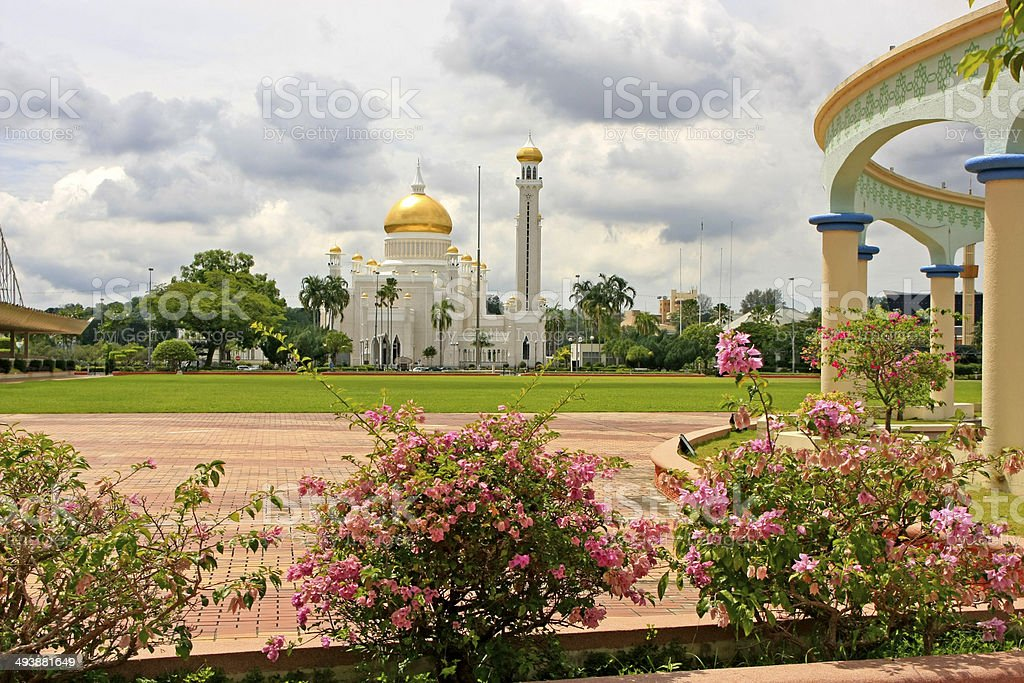 Sultan Omar Ali Saifudding Mosque, Bandar Seri Begawan, Brunei stock photo