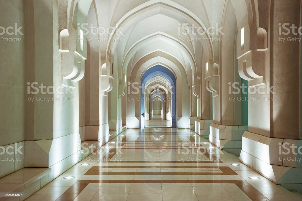 Sultan Palace in Muscat Archway Oman Middle East stock photo