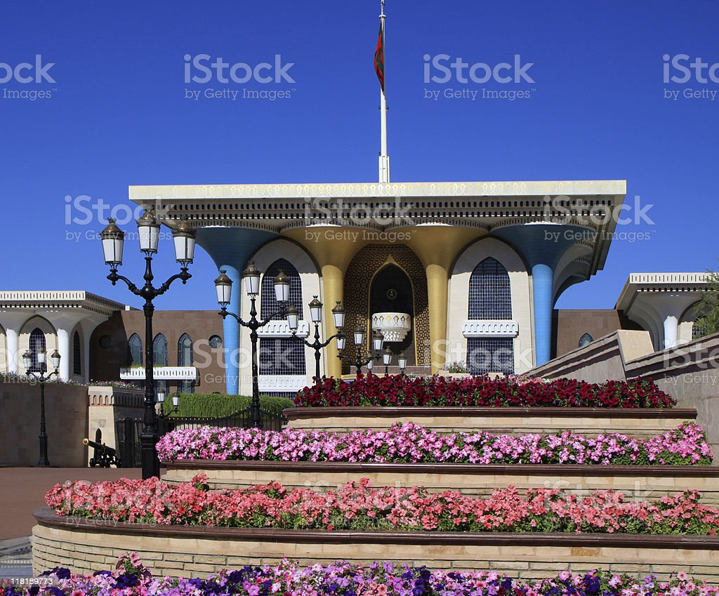 Sultan Palace in Muscat, Oman royalty-free stock photo