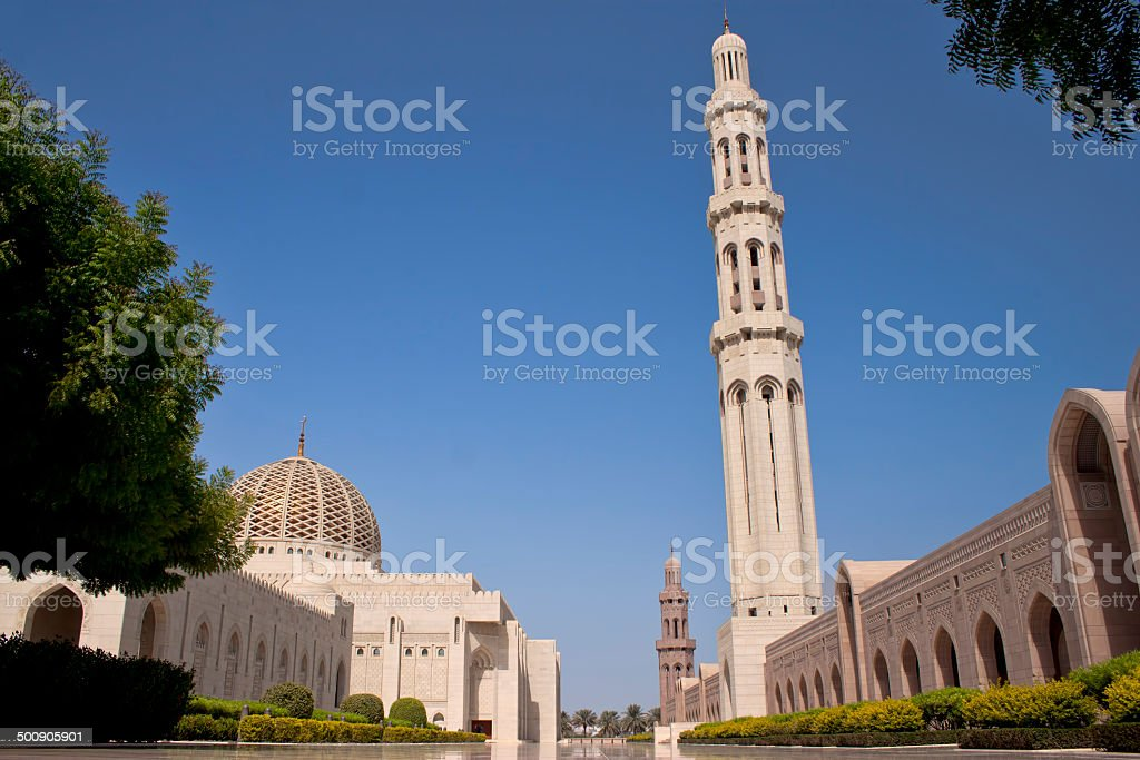 Sultan Qaboos Grand Mosque in Muscat, Oman stock photo