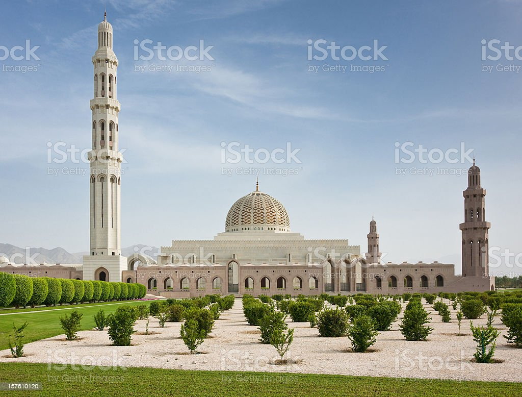 Sultan Qaboos Grand Mosque Masqat Muscat Oman royalty-free stock photo