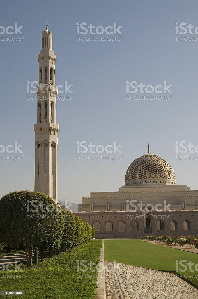 Sultan Qaboos Grand Mosque - Minaret & Dome stock photo