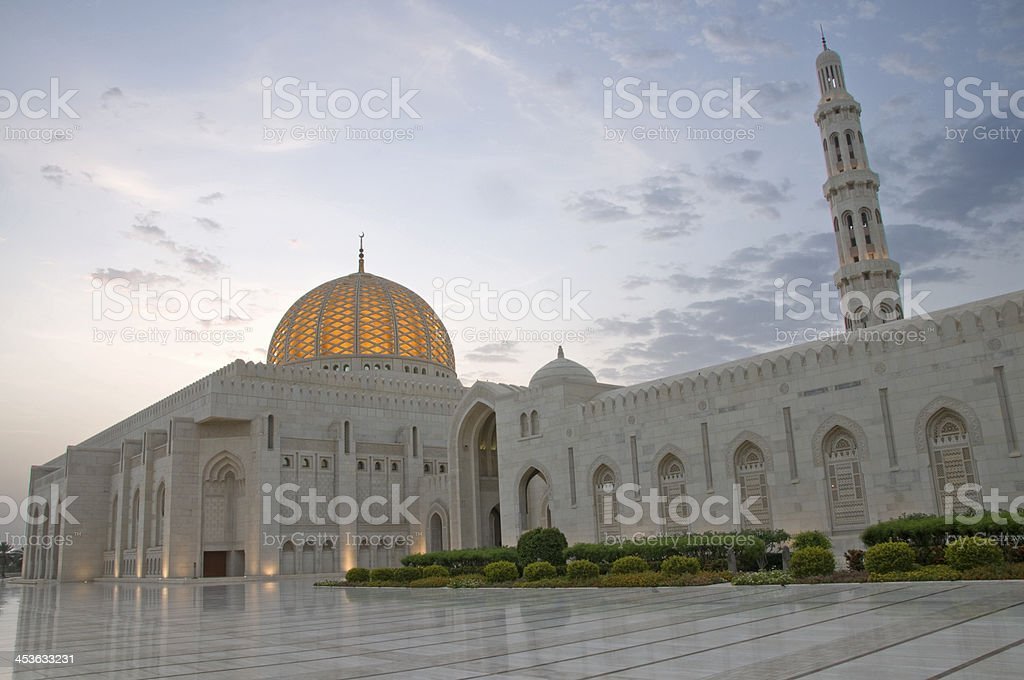 Sultan Qaboos Grand Mosque Muscat Oman royalty-free stock photo