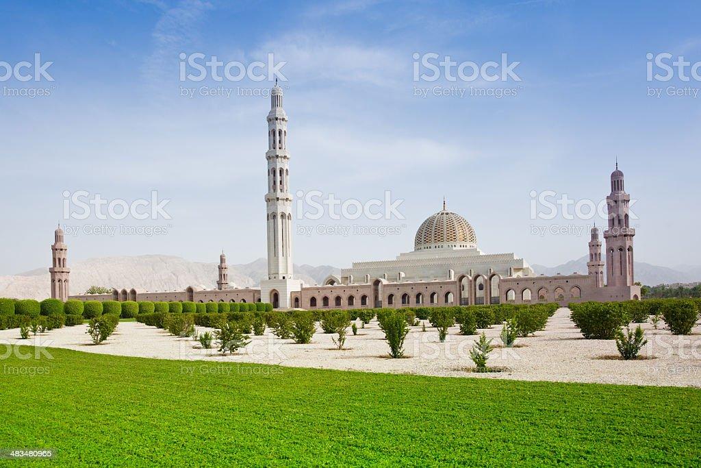 Sultan Qaboos Grand Mosque Muscat Oman stock photo