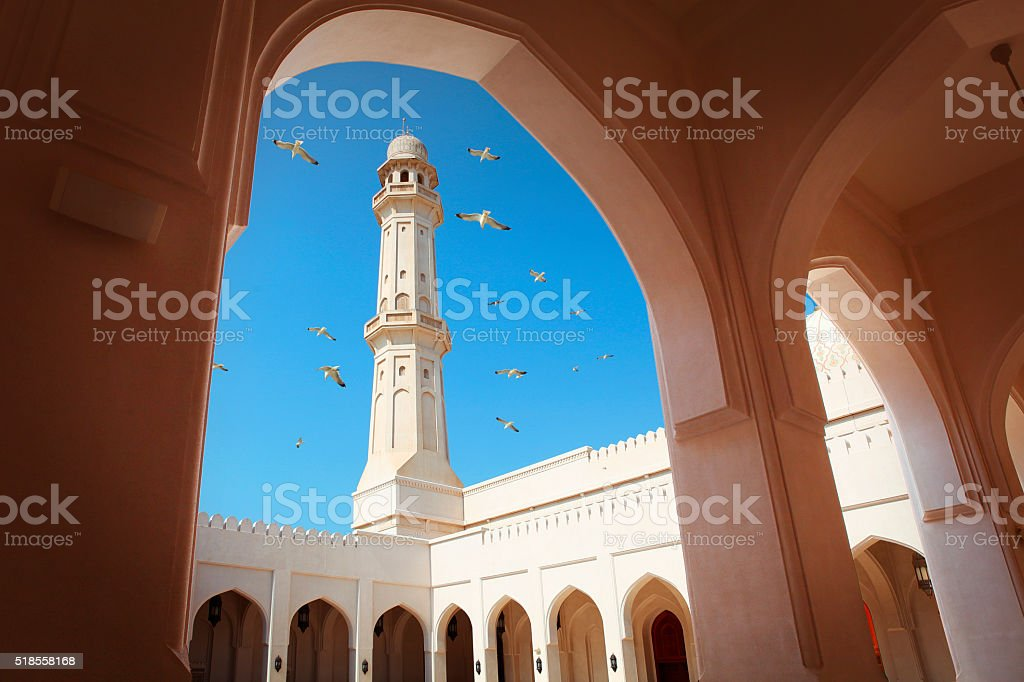 Sultan Qaboos Mosque in Salalah stock photo