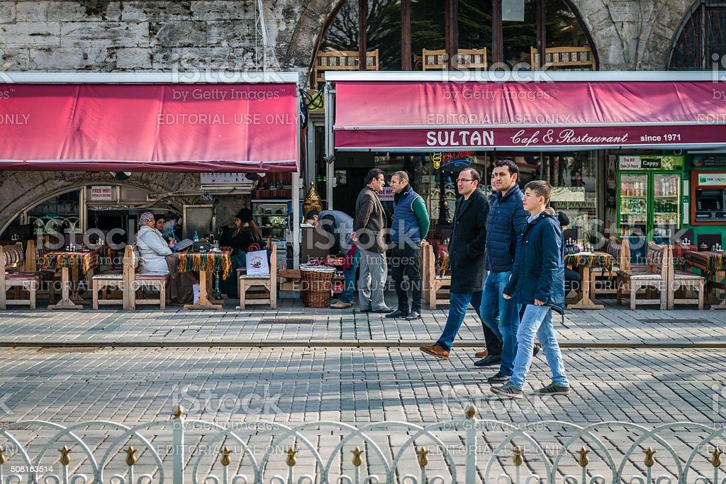 Sultanahmet area in Istanbul, Turkey stock photo