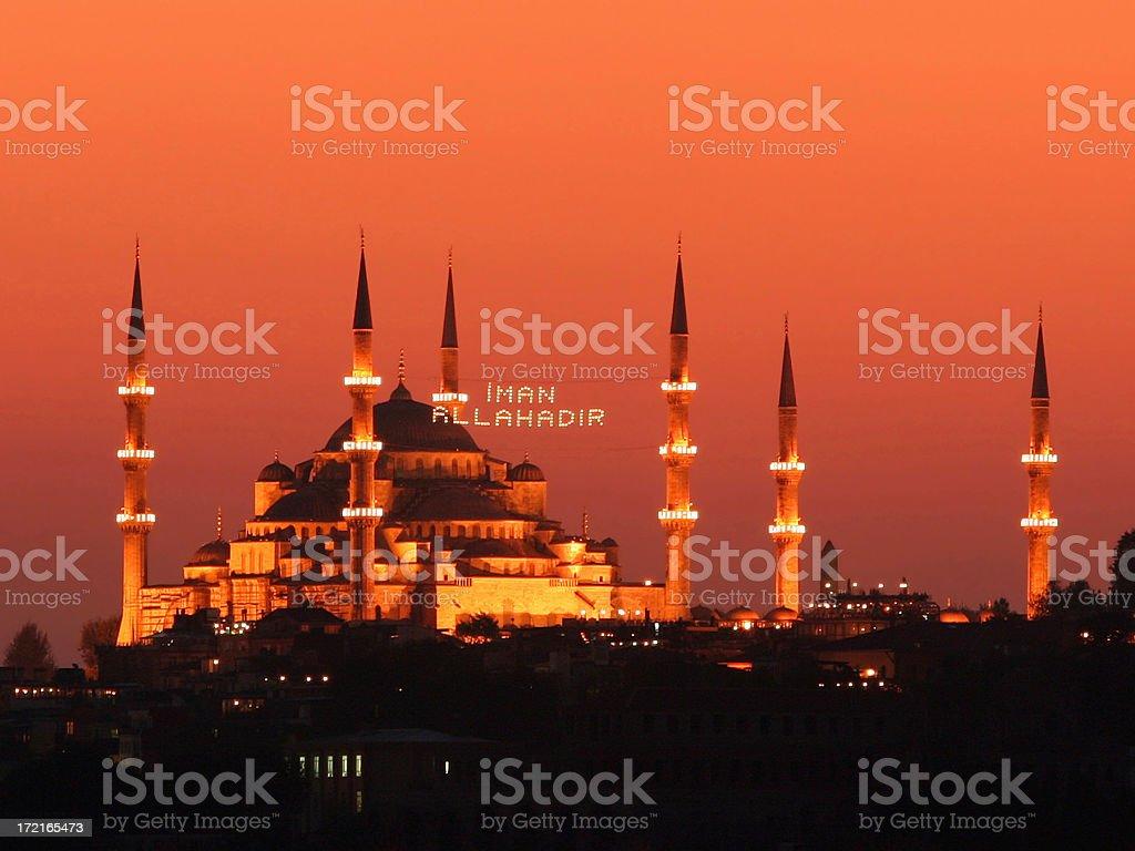 Sultanahmet mosque stock photo