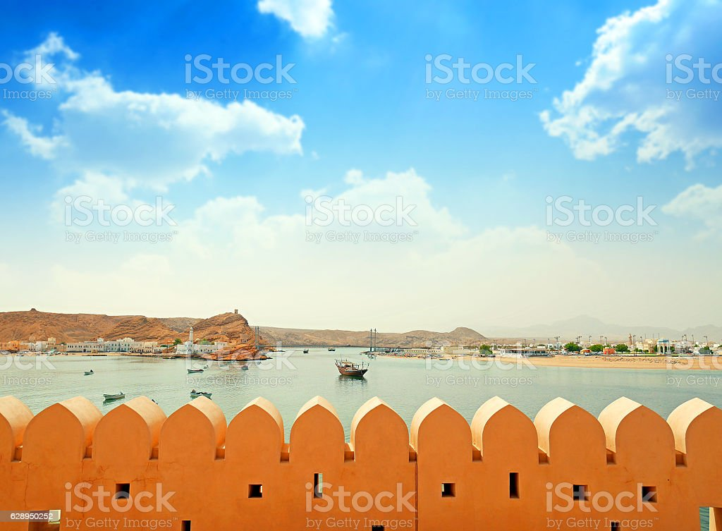 Sultanate of Oman, the port of Sur stock photo