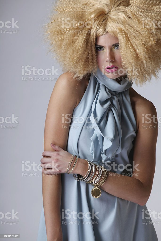 Sultry fashion model royalty-free stock photo