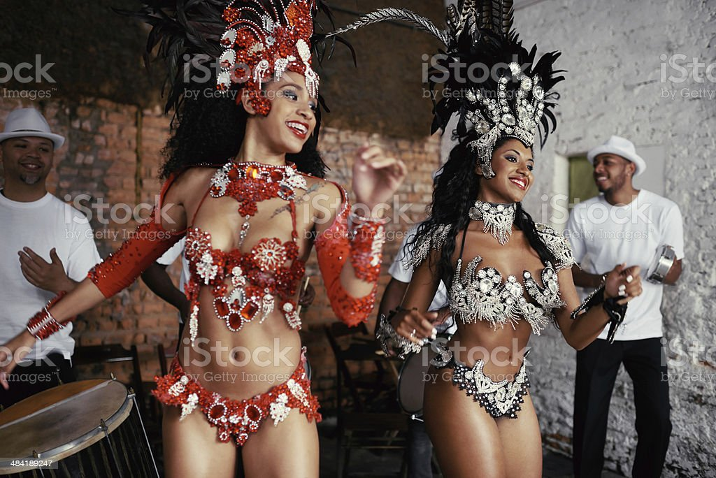 Sultry samba queens stock photo