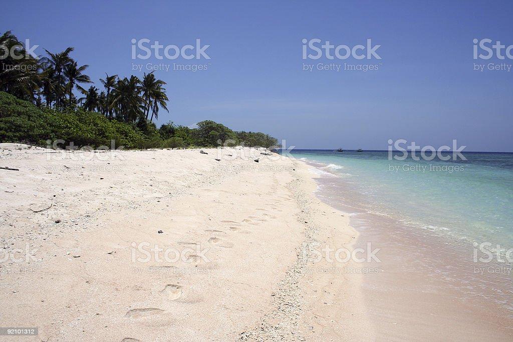 sulu sea white beach desert island philippines royalty-free stock photo