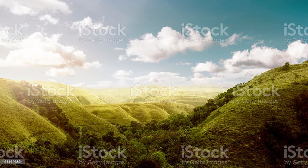 Sumba Island Hills Landscape stock photo