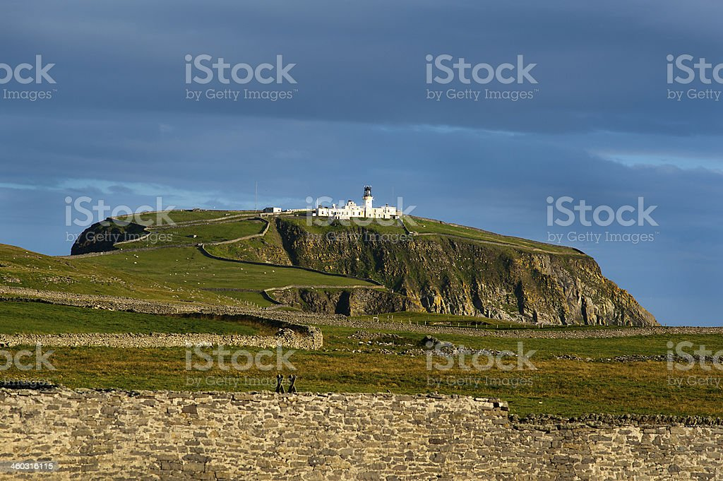 Sumburgh Head Lighthouse royalty-free stock photo
