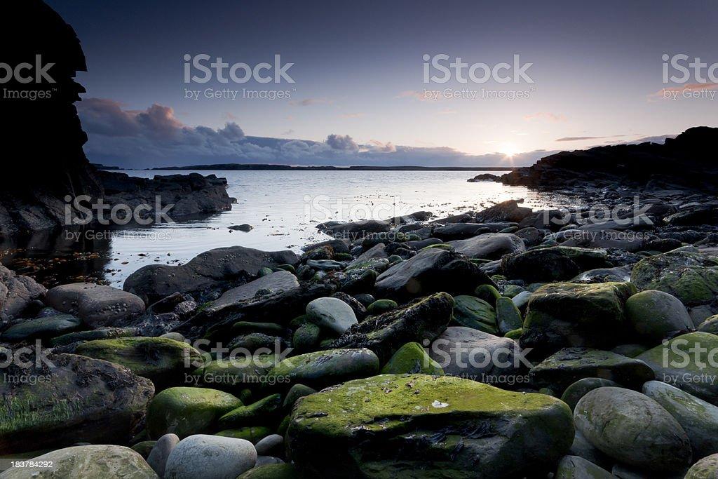 Sumburgh Shetland at sunset royalty-free stock photo