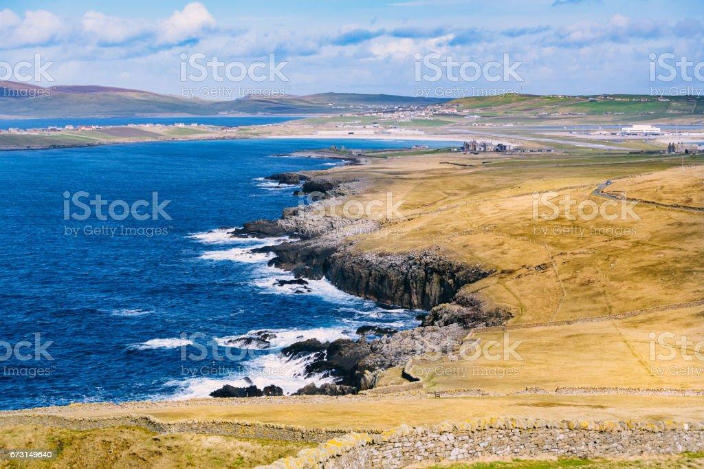 Sumburgh, Shetland Islands, Scotland stock photo