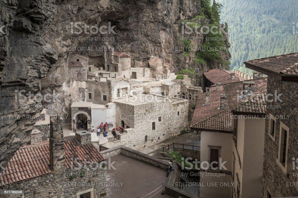 Sumela Monastery in Trabzon,Turkey. Sumela is 1600 year old ancient Orthodox monastery. stock photo