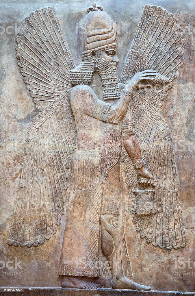 Sumerian artifact stock photo