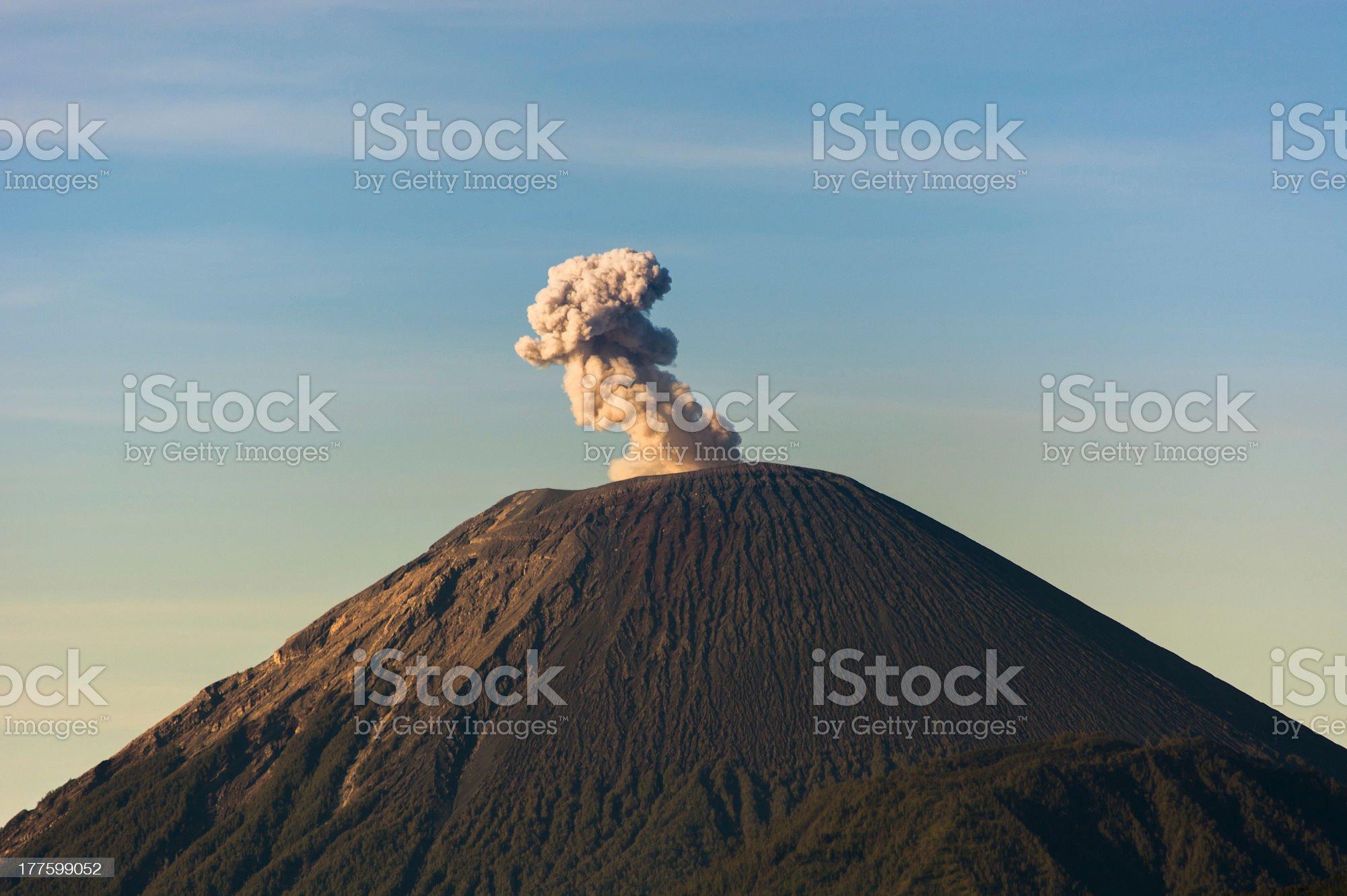 Sumeru Volcano royalty-free stock photo
