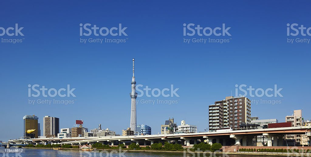 Sumida District and Tokyo Sky Tree stock photo