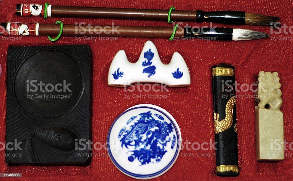Sumi-e Set royalty-free stock photo