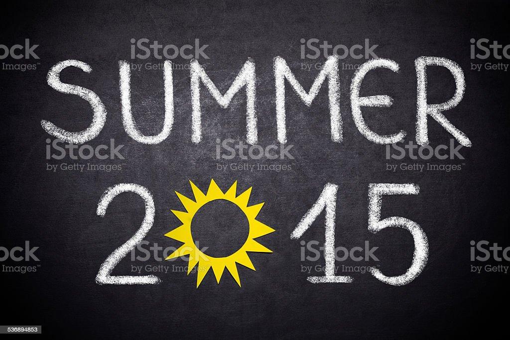 Summer 2015 stock photo
