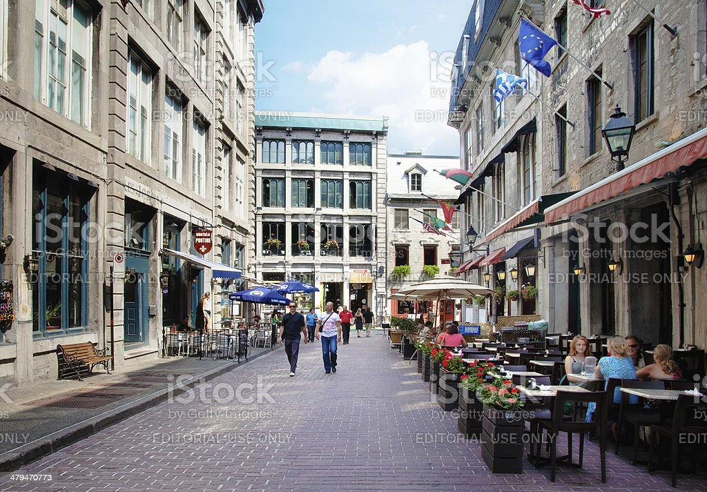 Summer afternoon in Old Montreal stock photo