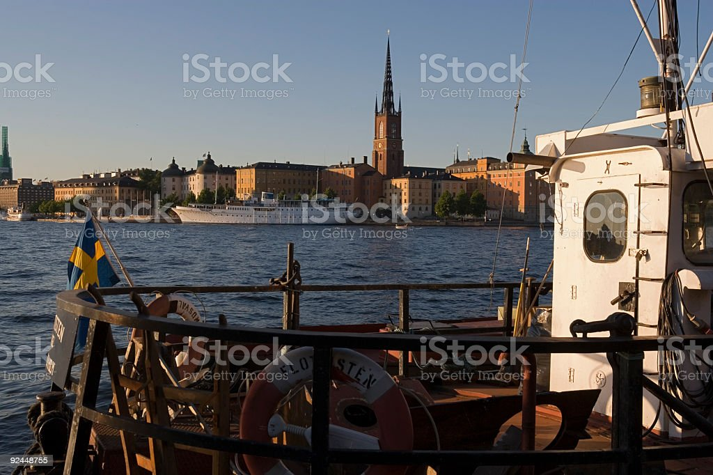 Summer afternoon in Stockholm stock photo