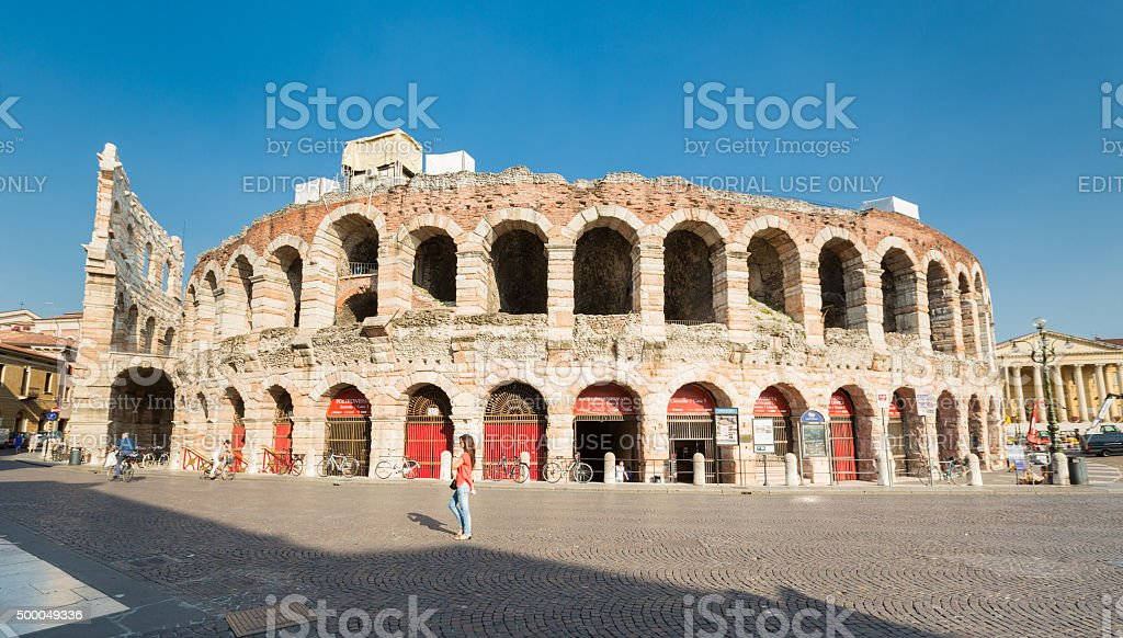 Summer Afternoon in Verona, Italy stock photo