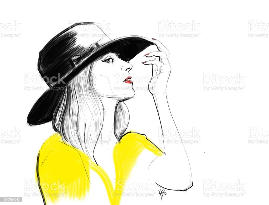 Summer and a hat royalty-free stock photo