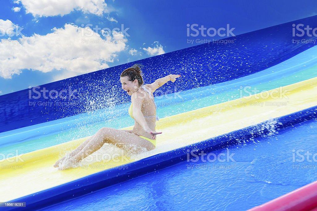 summer and aquapark royalty-free stock photo
