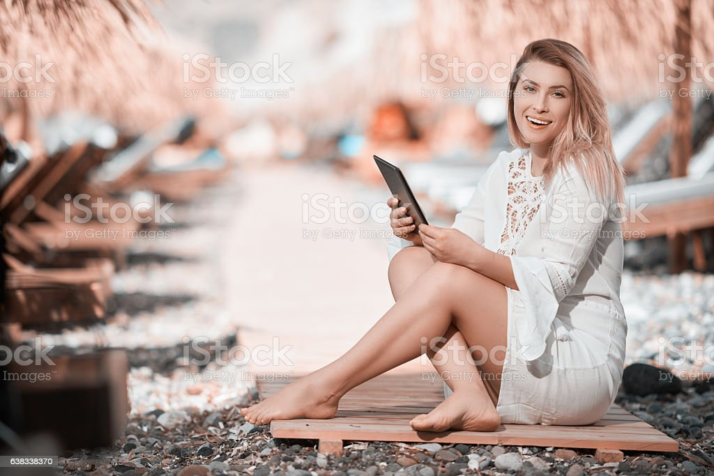 summer and vacation lifestyle stock photo