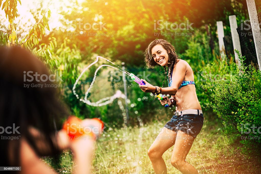Summer and water fun stock photo