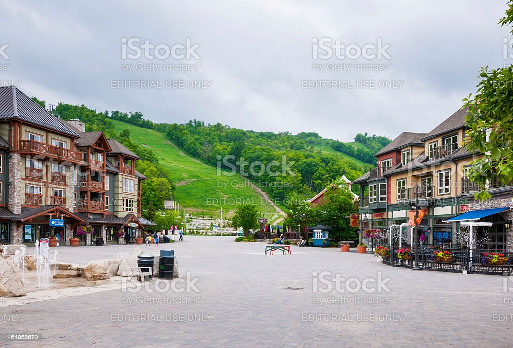 Summer at Blue Mountain Village, Collingwood, Canada stock photo