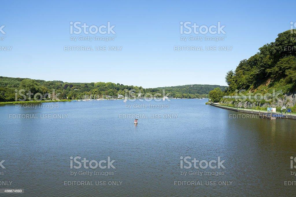 Summer at lake Baldeneysee stock photo