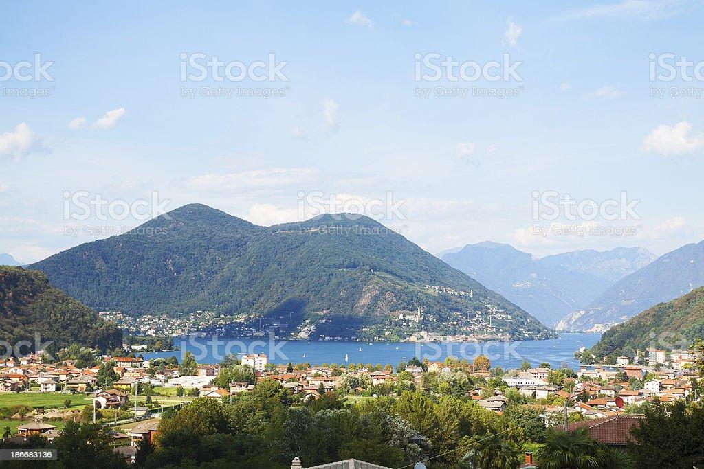 Summer at Lake Lugano stock photo