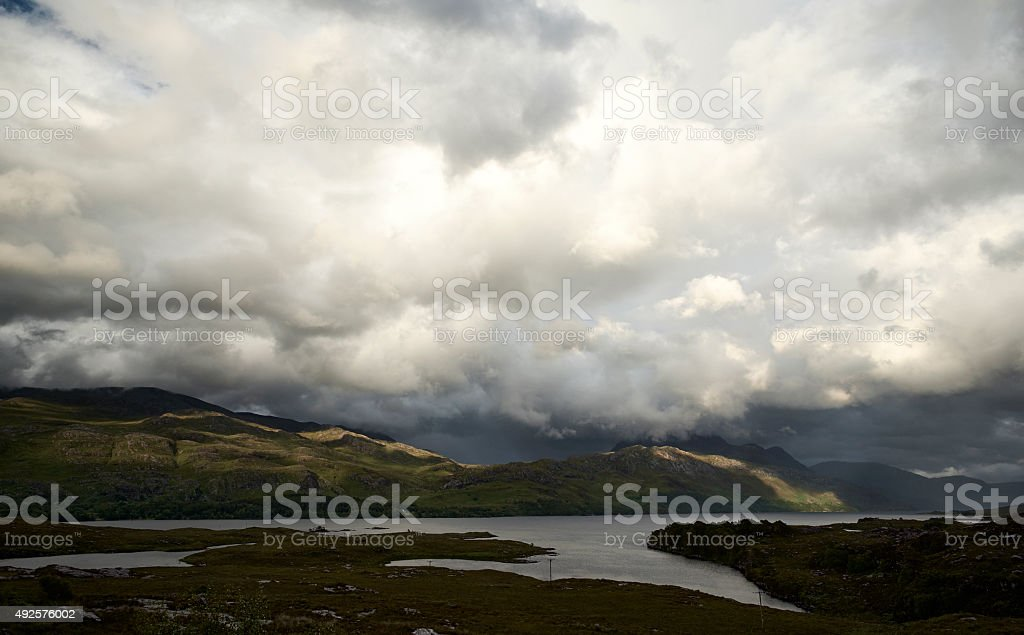 Summer At Loch Maree stock photo