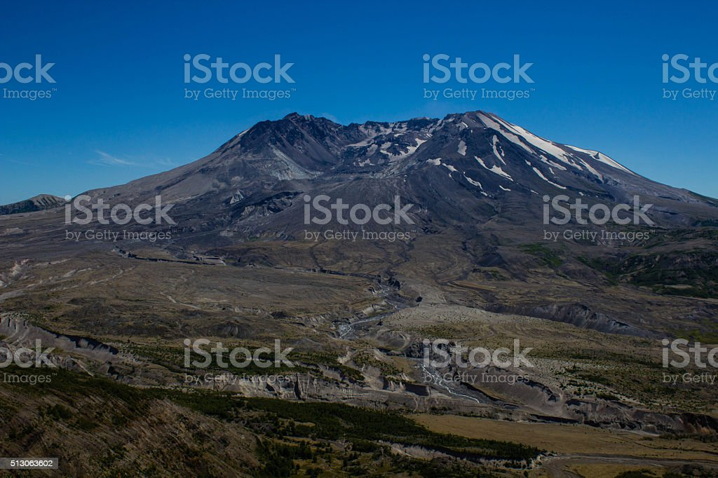 Summer at Mount Saint Helens stock photo