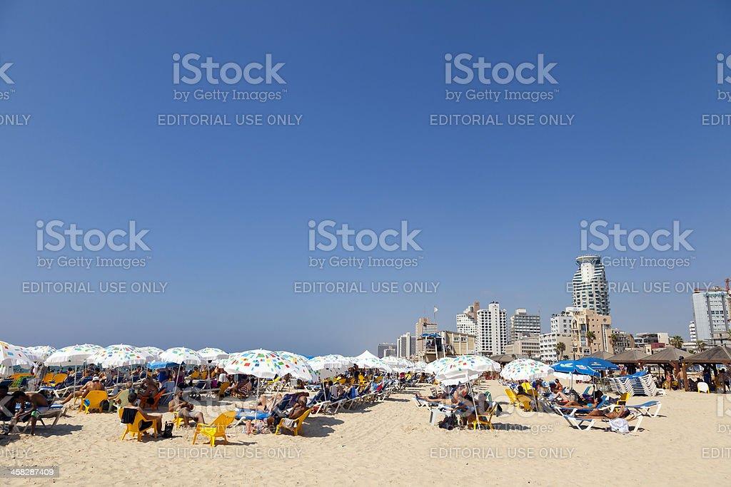 Summer at the Beach in Tel-Aviv Israel royalty-free stock photo
