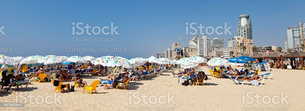 Summer at the Beach in Tel-Aviv Israel stock photo