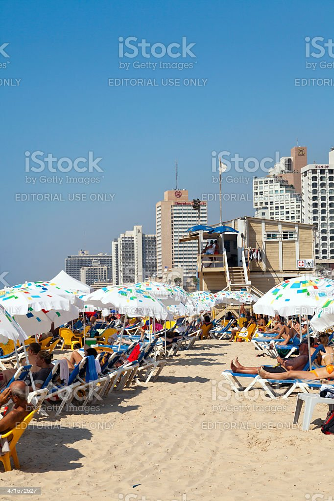 Summer at the Beach in Tel-Aviv Israel royalty-free stock photo