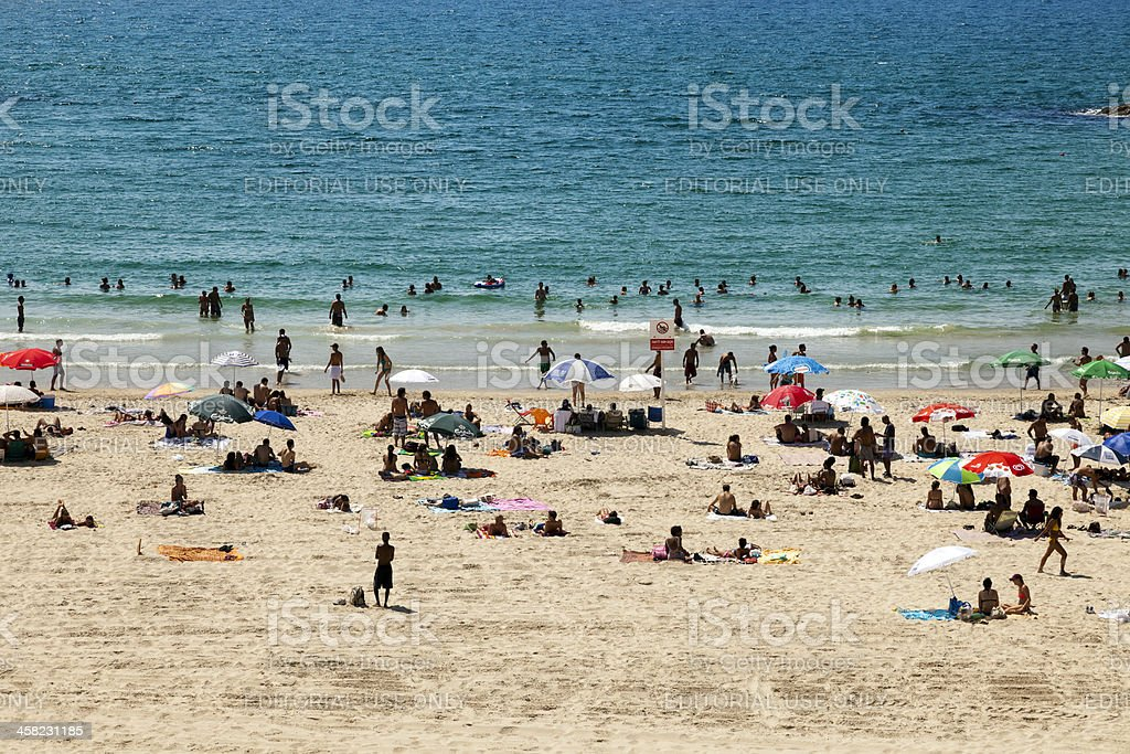 Summer at the Beach in Tel-Aviv royalty-free stock photo