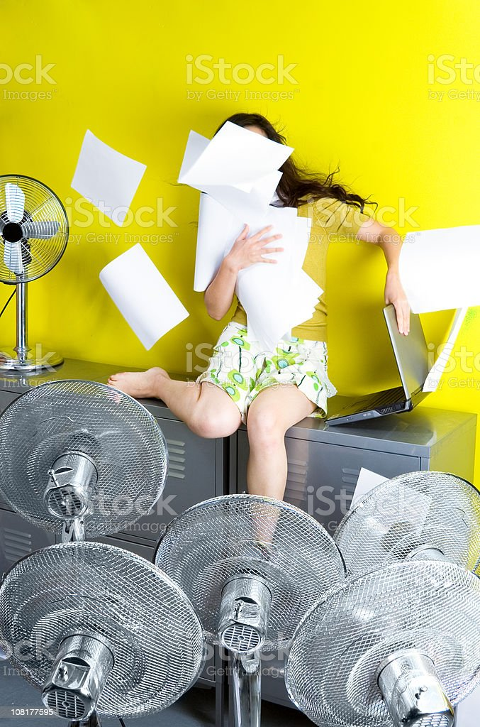Summer at the office stock photo